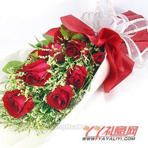 同城送花11朵红玫瑰