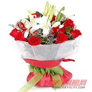 訂花12朵紅玫瑰2枝多頭...
