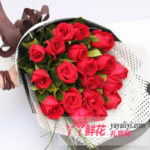 男生生日送19朵红玫瑰