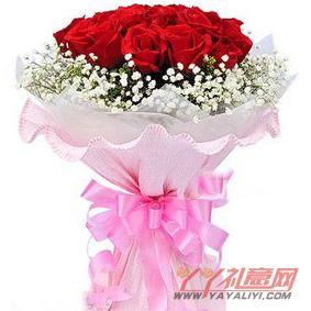 鲜花-送花9朵红玫瑰