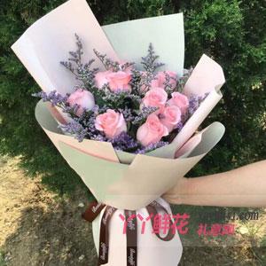 甜蜜-11朵粉玫瑰