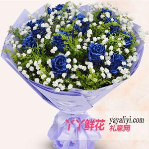 訂花11朵藍色妖姬