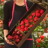 鮮花速遞19朵紅玫瑰禮盒