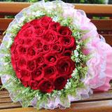 鮮花33朵紅玫瑰