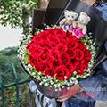 同城送花33朵白玫瑰