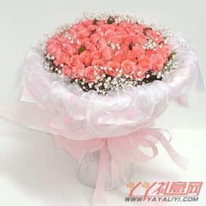 鲜花108枝粉玫瑰