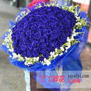 鮮花99朵藍玫瑰免費配送