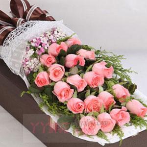 初见倾心-鲜花19朵粉玫瑰礼盒