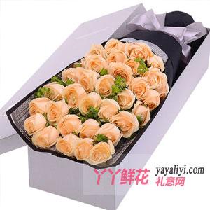 33朵香檳玫瑰銀色禮盒款