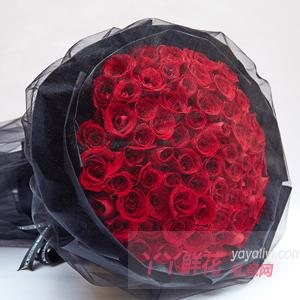 99朵红玫瑰黑纱款