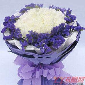 異地送花16朵白玫瑰