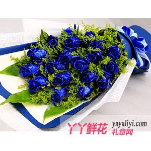 鲜花19朵蓝色妖姬