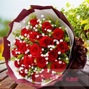 鮮花19枝紅玫瑰送花