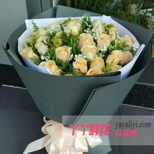 最浪漫的事-鮮花19枝香檳玫瑰