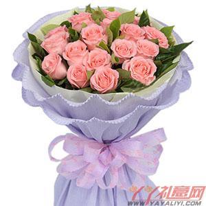 鮮花19枝粉玫瑰