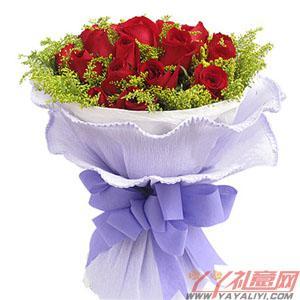 鮮花19枝紅玫瑰郵政送花