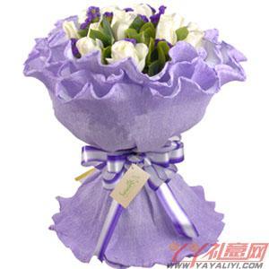 花店訂花16枝白玫瑰