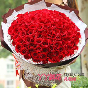 鲜花99朵红玫瑰免费送花