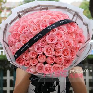 鲜花99朵粉玫瑰预订