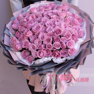 99朵紫玫瑰