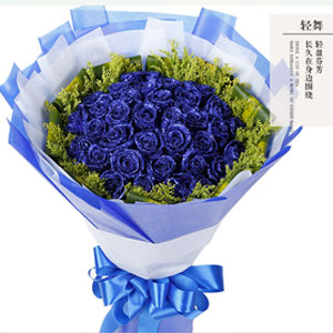 輕舞-33朵藍色妖姬同城送花