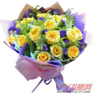 19枝黃玫瑰