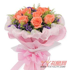 唯一-同城配送11枝粉玫瑰