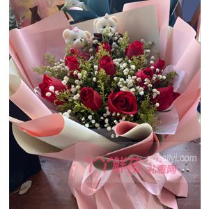 鮮花速遞12枝紅玫瑰