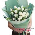 19朵白玫瑰鲜花预定