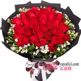33朵红玫瑰搭配相思梅