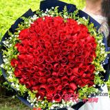 鲜花99朵红玫瑰网上订花