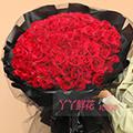 鲜花99朵混色玫瑰预定