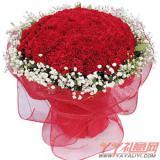 鮮花99朵紅色康乃馨