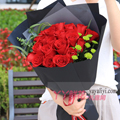 19朵红玫瑰雏菊适量