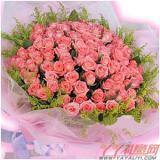 鲜花99枝顶级粉玫瑰鲜花速递