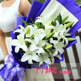 鮮花12朵白百合預訂