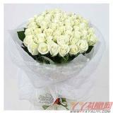 送花33朵白玫瑰