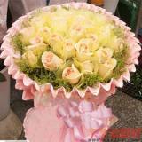 33朵香槟玫瑰送花