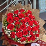鮮花速遞33枝紅玫瑰預訂