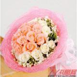 鲜花网站12朵粉玫瑰12朵白玫瑰