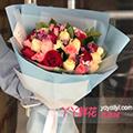 11朵紅玫瑰11朵香檳玫瑰11朵戴安娜搭配相思梅梔子葉