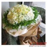 鲜花26朵白玫瑰