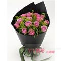 11枝紫玫瑰外围19枝白色桔梗