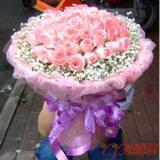 鮮花66枝粉玫瑰鮮花速遞