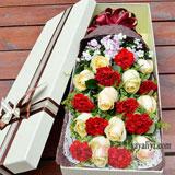 9朵红色康乃馨10朵香槟玫瑰