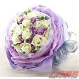 網上訂花19朵白玫瑰