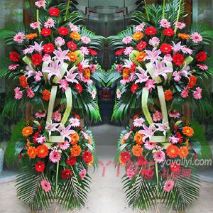 生意盈门-西安网上花店开业花篮订购单个花篮
