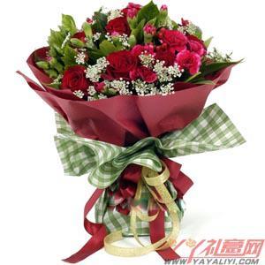 鲜花速递9朵红玫瑰