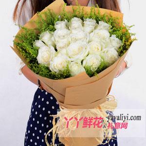 我的心只为你-花店订花19朵玫瑰