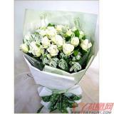 網上訂花22朵白玫瑰